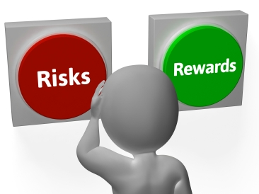 Risks Rewards Buttons Showing Roi Or Payoff